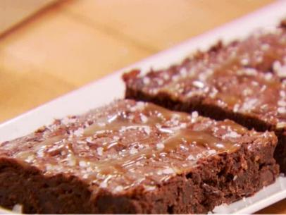 Barefoot Contessa Salted Caramel Brownies